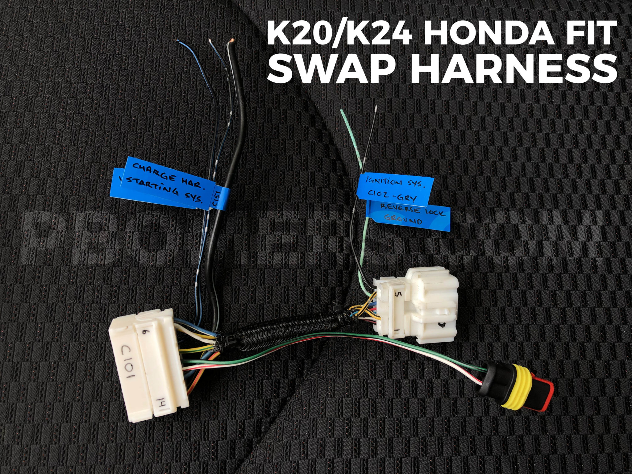 K20 K24 Honda Fit Dash Wiring Harness
